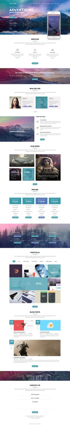 Luispro + One Page UI Design + 1170 Grid System + Flat & User Friendly… Layout Design, Graphisches Design, Web Layout, Website Layout, Website Themes, Graphic Design, Website Design Inspiration, Web Design Inspiration, Ecommerce