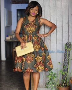 You can do a lot with any type of Ankara material, that includes all-purpose fit and flare Ankara dress. Ankara fit and flare dress has an incredible fit o African Fashion Designers, Latest African Fashion Dresses, African Print Dresses, African Print Fashion, Africa Fashion, African Dress, African Prints, African Attire, African Wear
