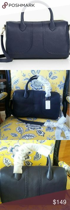 """Talbots Spectator Bag- Luggage NWT New with Tags Pebbled Leather Exterior /Spectator Chic Shrunken Duffle Shape Shinny Gold-plated hardware Twill Chino Lining Top Zip Closure and Interior Zip and 2 Slip Pockets 22"""" detachable shoulder strap 5 """" high top handle structure 8 1/2"""" H X 132/2"""" L X 5""""W Big enough to store all your travel essentials or go from day to night Talbots Bags Travel Bags"""