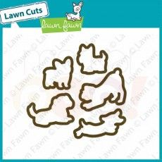 Lawn Fawn Die Cuts - Critters at the Dog Park