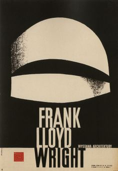 Polish Frank Lloyd Wright Poster by Waldemar Swierzy, 1962.