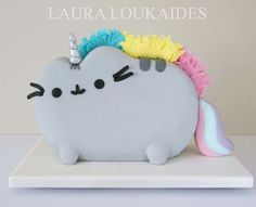 Pusheenicorn cake by Laura Lukaides  Cakes https://m.facebook.com/Pusheen/photos/a.385283634831198.112729.384381901588038/1344965298863022/?type=3&source=48&refid=12&ref=bookmark&__tn__=E