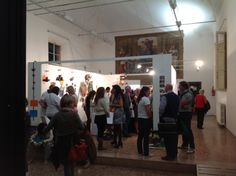Visitors at the exhibition Bologna, Art Therapy, Presentation