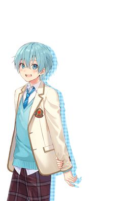 Gato Anime, Moe Anime, Cute Anime Chibi, Anime Kawaii, Anime Art, Cool Anime Guys, Cute Anime Boy, Anime Blue Hair, Anime Boy Sketch