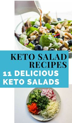 Low Carb Summer Salads – The Keto Diet Recipe Cafe Diet Dinner Recipes, Diet Recipes, Healthy Recipes, Easy Recipes, Keto Dinner, Ketogenic Salads, Ketogenic Recipes, Ketogenic Diet For Beginners, Keto For Beginners