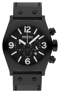 Sporty watch - Brera 'Eterno Piccolo' Chronograph Leather Strap Watch, 38mm (Nordstrom Exclusive) available at #Nordstrom