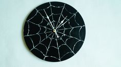 Wall Clock Spiderweb- Black Wall Clock-acrylic Art -Trending, Minimalist Wall Clock, Home and Living, Unique Wall Clock Handmade Wall Clocks, Unique Wall Clocks, Wall Clock Spider, Minimalist Wall Clocks, Russian Art, Acrylic Art, Household Items, Clock Decor, Etsy Shop
