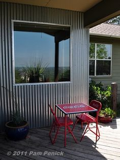 Content filed under the Garden tours 2011 category. Corrugated Wall, Metal Siding, Wrought Iron Gates, Backyard, Patio, Outdoor Living, Outdoor Decor, Inspired Homes, Cladding
