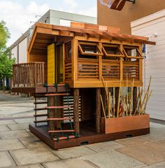 APlaceImagined: Dreams Happen 2013 - Safari Campout Architect: Hayes Group Architects, Inc. & Morris Engineering Builder, South Bay Construction Photo Credit, Dean J. Cubby Houses, Play Houses, Mini Houses, Modern Playhouse, Kid Playhouse, Outdoor Spaces, Outdoor Living, Morris, Backyard Playground