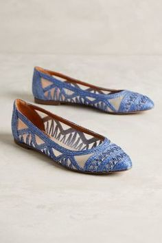 Miss Albright Tortola Skimmers Blue Shoes #anthrofave