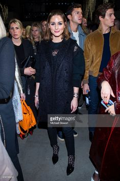 Olivia Palermo attends the Jonathan Simkhai fashion show during New York Fashion Week at Gallery I at Spring Studios on February 10, 2018 in New York City.