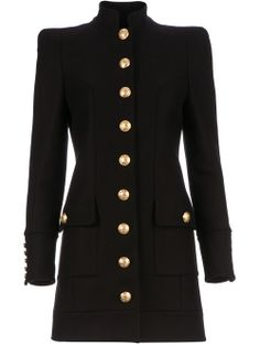 All - Balmain Structured Military Coat - Tessabit.com – Luxury Fashion For Men and Women: Shipping Worldwide