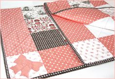 Beautiful Baby Quilt in Maman & Nursery Basics from Organic - Quilting Tips, Quilting Tutorials, Quilting Projects, Sewing Tutorials, Sewing Ideas, Baby Girl Quilts, Girls Quilts, Baby Sewing Projects, Sewing Crafts