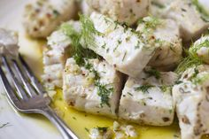 NYT Cooking: This dish is truly clever weeknight cooking — sophisticated, fast, unfussy and wholly delicious. Swordfish is cut into chunks, which cook faster than steaks, and then is sautéed in olive oil, butter or, for the best results, a combination of the two. The fat protects the fish from the heat of the pan, preventing the fish from drying out. It also provides lots of flavor, as do fennel seeds, garlic, lemon zest and red pepper flakes, which are added to the pan after the fish has…