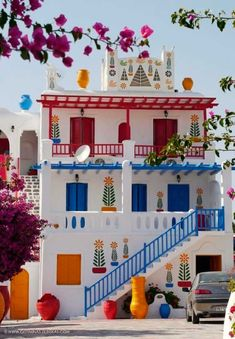 Casa típica griega (con toques de color) Mikonos, Grecia