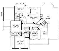Floor Plans AFLFPW07523 - 2 Story Country Home with 4 Bedrooms, 3 Bathrooms and 2,970 total Square Feet