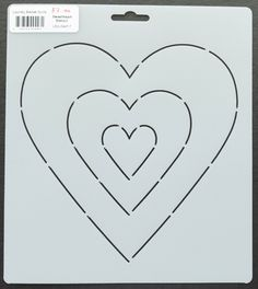 Sweetheart Stencil by Edyta Sitar from Laundry Basket Quilts, LBQ-0447-T
