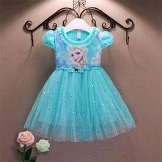 Girls/Toddler Lace Sequins Princess Anna & Elsa Dress - Sloan's Shop Unique Clothing & Toys for Boys and Girls