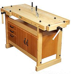 Sjoberg Duo Bench. shown complete with optional storage module