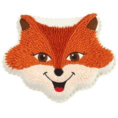 Sly Fox Party Cake - The friendly fox is another great cake idea for the Wilton Crown Pan. The pan shape is ideal for capturing his mischievous features. Wilton Cake Decorating, Cookie Decorating, Decorating Ideas, Fancy Cakes, Cute Cakes, Shaped Cake Pans, Fox Cake, Different Types Of Cakes, Wilton Cake Pans