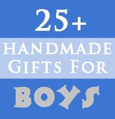 Over 25 handmade gifts for (younger) boys . . . matchbox car ramp, finger puppets, bowling game, tool bench, etc.