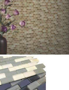 "Introducing ""Free Flow"" from our Exclusive Line ""Urth Glass Mosaic"" a unique collection offered in a brick style pattern featuring a mixture of smooth matte and sleek glossy surfaces combined together creating a beautiful pattern."