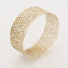 + Bangle Bracelet Real 18k Yellow Filled Gold Ladies Fine Antique Cuff Design