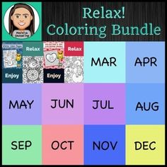 This growing bundle will include 12 sets of relaxing coloring pages (one for each month of the year). Learning Centers, Fun Learning, Teacher Pay Teachers, Teacher Resources, Character Education, Too Cool For School, Holiday Activities, As You Like, Coloring Pages