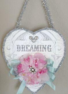 Dreaming Valentine heart from seaside rose garden.