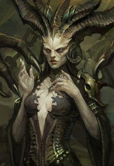 Lilith Diablo, Dark Art Drawings, Angel And Devil, Goddess Art, Dark Fantasy Art, Anime Demon, Character Design Inspiration, Fantasy Creatures, Portrait Art