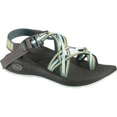 Chaco Women's ZX/3 Yampa Sandal ($105) ❤ liked on Polyvore featuring shoes, sandals, stardust, wrap around sandals, adjustable strap sandals, buckle strap shoes, strappy sandals and strappy shoes
