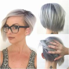 Before we discuss the color here (which is completely rad), take a moment to check out her undercut. She's got the ease and classic look of an asymmetrical bob, but the semi-hidden undercut keeps it totally fresh.