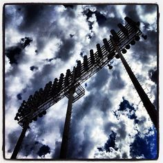 Crazy clouds above today's #Angels and A's game in #Oakland. (By @bmangin / SI) #MLB