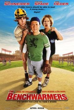 """""""The Benchwarmers"""" is a 2006 American sports-comedy film directed by Dennis Dugan. It stars Rob Schneider, David Spade and Jon Heder."""