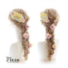 Gallery 226  Order Made Works Original Hair Accessory for WEDDING  #ブーケ の お色に合わせた #カラフル な  #パステル カラーの #小花 をギュッと 詰め込んだ #女性らしさ 溢れる #ラプンツェル ふう 仕上げ に もう #うっとり # #結婚式 #前撮り #オーダーメイド #ウェディングドレス #髪飾り  # #花飾り #造花 #ヘアセット #ヘアアレンジ #フィッシュボーン #花嫁 #記念日  #hairdo #flower #hairaccessory #picco #dress #anniversarry #hairarrange #rapunzel #princess  Twitter , FACEBOOKページ始めました→「picco」で検索 いいね、フォロー宜しくお願いします。