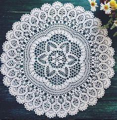 Heklanje plus: Okrugle salvete sa stranice Linda crochets