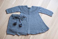 Ullstrikk - The wool knitters blog: BLÅ BARNDOMSKJOLE / THIS YEAR'S CHRISTMAS DRESS