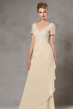 Vintage Inspired Charming Long Mother of the Bride Dresses UK with V-neck,A-line,Chiffon Fabric,Floor-length, M2014120503 $399.99 Mother of the Bride Dresses