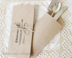 kraft paper silverware envelopes