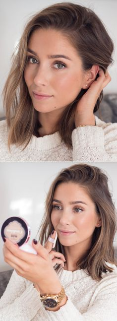 Natural, glowing makeup using True Match Lumi Cushion Foundation