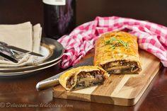 Mushroom Wellington - a vegetarian twist on the classic Beef Wellington recipe   via deliciouseveryday.com