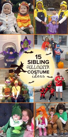 Whether you're looking for an idea for brothers or sisters, try one of these coordinating sibling Halloween costumes.