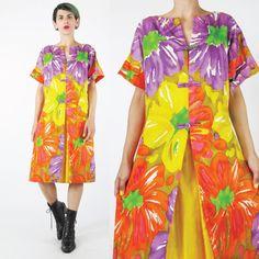 1960s Hawaiian Dress (M/L)  C$58.00
