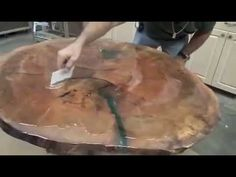 MAPLE TABLE TOP EPOXYRESINA #3 - YouTube