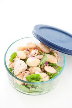 packed lunch favourite butter bean & tuna salad