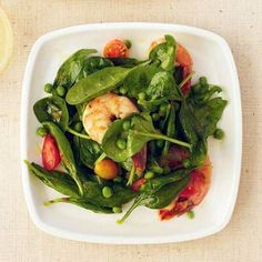 Spinach-and-Shrimp Salad with chili Dressing