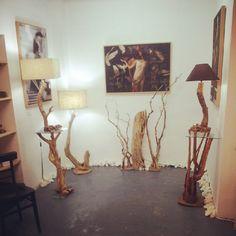 Lámparas recicladas de ramas de olivo. Artesanales.#lights#lamp#luzolivo#wooden#madera#luz#decoracion http://wabisabigallery.com