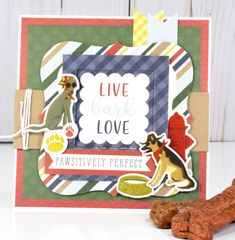 """A Pawsitively Perfect card by Tya Smith featuring the """"A Dog's Tail"""" Collection by #EchoParkPaper"""