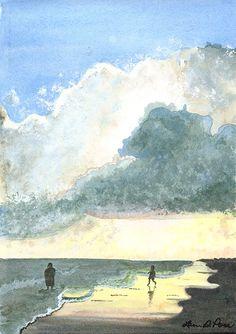 """""""Long Beach Sunset"""" by Laura D. Poss"""