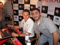 With Christian Klien (F1 Driver) in Bahrain